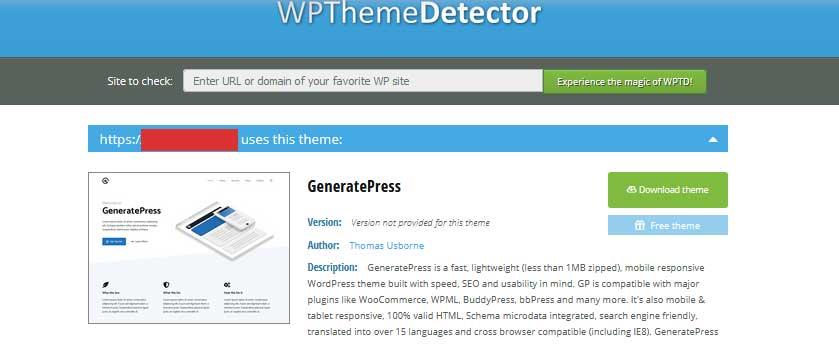 wordpress theme and plugin detector tool