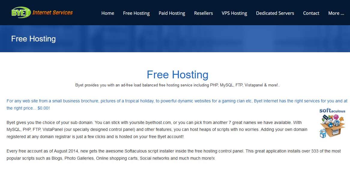 byethost web hosting