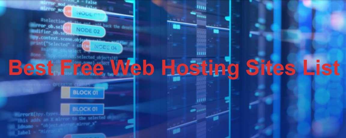 list of best free web hosting sites